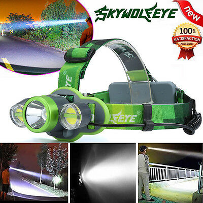 15000LM XM-L T6+2X COB LED Rechargeable 18650 Headlamp Headlight Light Torch New