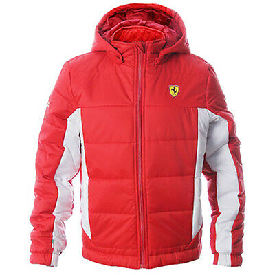 Puma Ferrari SF Padded Puffer Hooded Boys Kids Winter Jacket 761584 02 P5