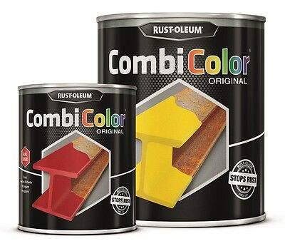 Direct To Metal Dark Grey Paint Rust-Oleum CombiColor Hammertone 750ml