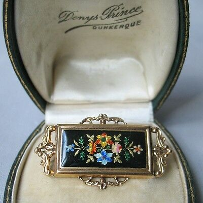 BROCHE en OR 18K 750/1000 Email 1818/1838 XIXè Enamel Georgian Gold Brooch 19thC