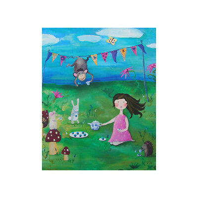 Cici Art Factory Tea Party Brunette Paper Print