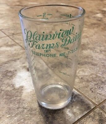 Vintage Plainview Farms Dairy Louisville Kentucky Glass Measuring Cup #1