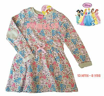 BHS Girls Dress Kids Baby Party Long Sleeve Outfit Disney Princess Cinderella