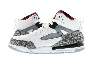 "Kids (PS) Air Jordan Spiz'ike ""Cement"" White/Varsity Red 317700-122"