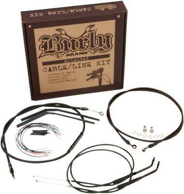 "Burly Cable/Brake Line Kit for 16"" Ape Hangers Dyna ABS"