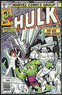Incredible Hulk 249 VF 8.0 Uncertified Marvel 1980 FREE SHIP