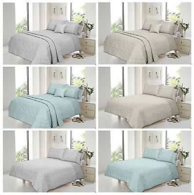 Luxury Florence Bedspread Quilted Throw And Pillow Shams Set, King 220 x 230 cm