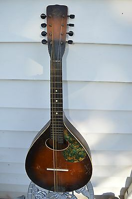 May Bell ''Bell Brand'' Vintage 8 string Mandolin early 1900s antique 25 inch
