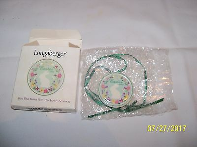 Longaberger Baskets EASTER 1998 Ceramic Tie On -  NEW IN BOX
