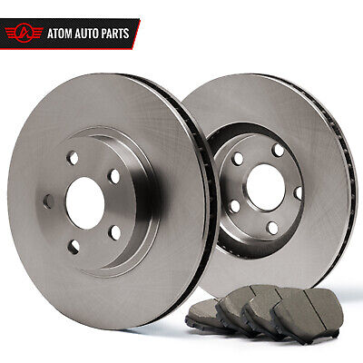 2014 Ford F150 w/6 Mounting Holes (OE) Premium Brake Rotors Ceramic Pads Front