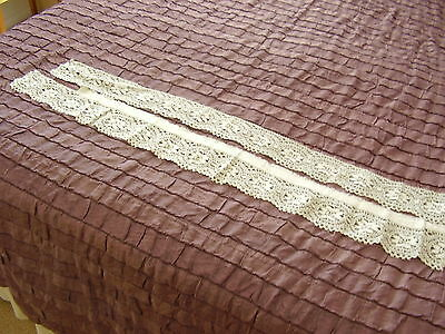 VINTAGE  LACE BORDER ~ removed from old cloth ~ RECYCLE