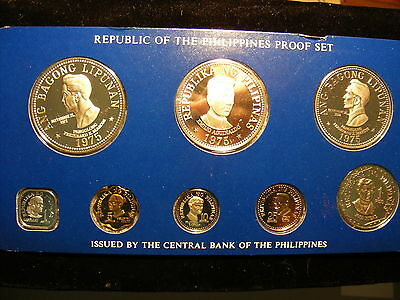 Philippines 1975 Proof Set - Box and paperwork come with