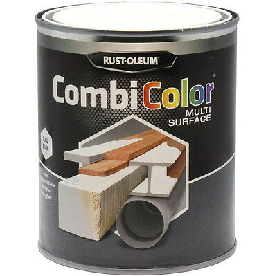 Rust-Oleum CombiColor Multi-Surface Paint Traffic White Satin 750ml RAL 9016
