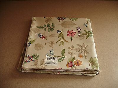 "Longaberger Botanical Fields 36"" Fabric Table Square Taupe Edge Usa Np Free Ship"