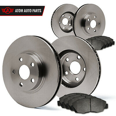 2010 2011 Audi A4 (See Desc.) (OE Replacement) Rotors Metallic Pads F+R