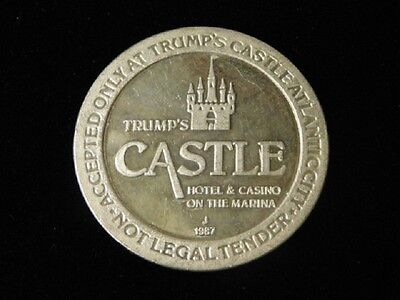Trump's Castle Hotel & Casino Atlantic City New Jersey $25 .999 Gaming Token