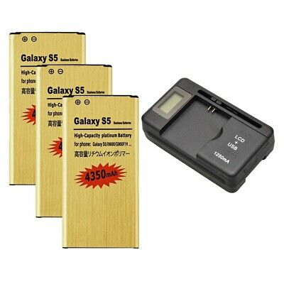 4350mAh High-Capacity Battery / Dock Charger for SamSung Galaxy S 5 I9600 G900A