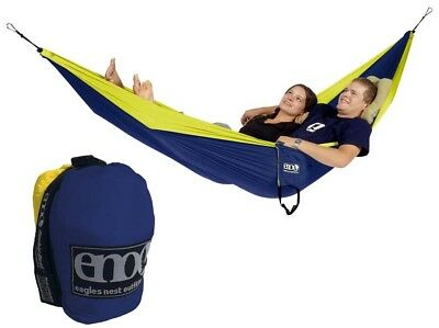 Eagles Nest Outfitters ENO DoubleNest Hammock Sapphire/Yellow Navy/yellow