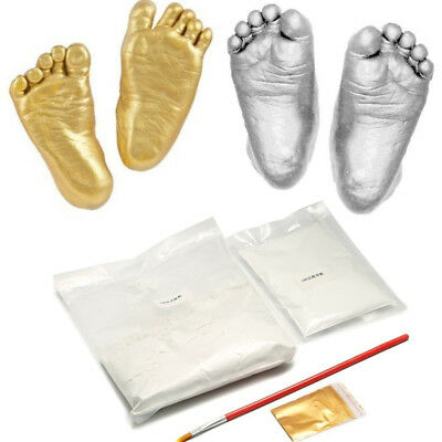 3D Baby Infant Hand Foot Plaster Statue Casting DIY Kit Memorable Mold Dazzling