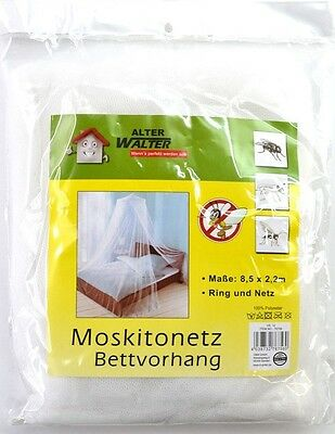 2,2 X 8,5M Mosquito Net White Canopy Bed Insect Protection Network bettnetz