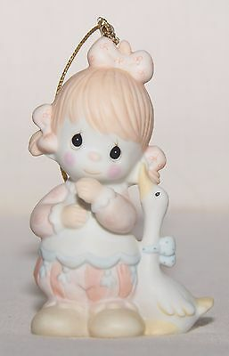 "PRECIOUS MOMENTS ""Waddle I Do Without You"" Girl w Duck Ornament 112364 1987"