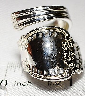 TIFFANY & Co. RICHELIEU Sterling 1892 Sterling Silver SPOON RING Sz 7 FREE SHIP