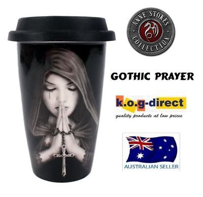 Anne Stokes Collection Gothic Prayer Travel Mug