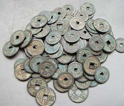 Collect 200pc Chinese Bronze Coin China Old Dynasty Antique Currency Cash
