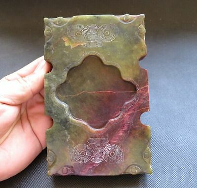 Antique China Hongshan Cultural Old Jade Hand-carving Jade inkstone 711g