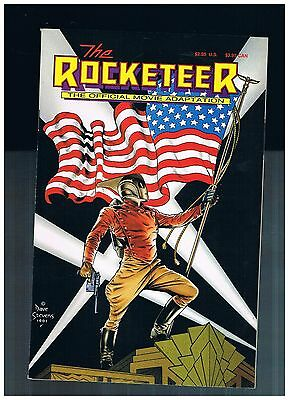 ROCKETEER:THE OFFICIAL MOVIE ADAPTATION  1991 DISNEY 1st PRINT  MAX SHIP 3.99