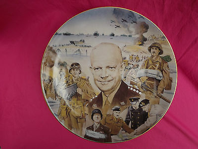 THEIR FINEST HOUR WWII Collector Plate Eisenhower Ike FORWARD