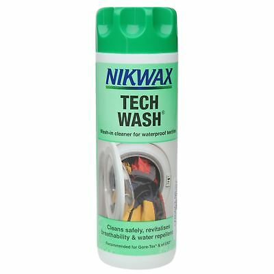 Nikwax Tech Wash 300ml Liquid Cleaner Textile Clothing Waterproofing Aftercare