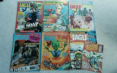 Eagle Comics x6 From 1982 (Dan Dare)  Free P&P (Free Action Force Mini Comic)