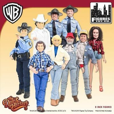 Set of 9 Dukes of Hazzard 8 Inch Action Figures: Series 1 & 2 (Loose)