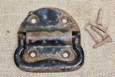 "Tool Box 3 1/2"" drop Handle treasure chest trunk Pull old vintage rustic iron"