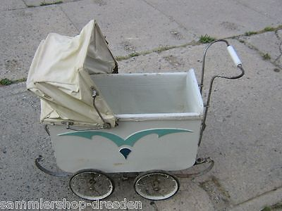 25148 alter Puppenwagen 1930 Doll`s pram   Pappe Art Deco good gut