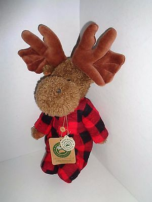 "Boyds Bear Moose Murphy Mooselfluff Plaid Outfit 13"" Retired"