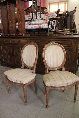 Pair Of Ancient Chairs Armchairs Walnut In The Style Of 900 Italian