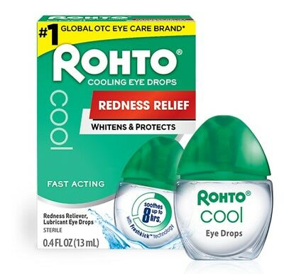 Rohto Cool Cooling Eye Drops Redness Relief Whitens & Protects