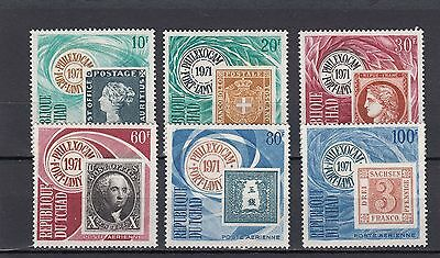 a119 - CHAD - SG321-326 MNH 1971 STAMPS ON STAMP - PHILEXOCAM