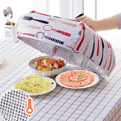 Multifunctional Dust Dishes Food Cover Heat Preservation Foldable Insulation Daz