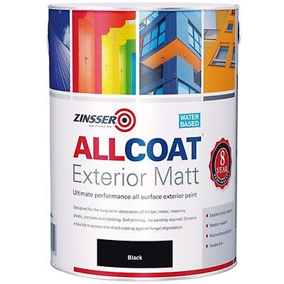 Zinsser Allcoat Multi-Surface Self-Primer Exterior 8 Year WB Matt Black 2.5L