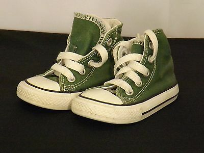 #6941 Baby Converse Shoes UK Size Infant 4 EU 20 in Very Good Condition
