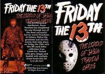 FRIDAY THE 13th  :  PROMO CARDS VARIOUS                      ...SELECT /CHOOSE