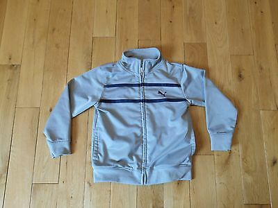 PUMA Sport Lifestyle Zip Up Gray Grey Track Jacket Toddler Size 4T Soccer Tennis