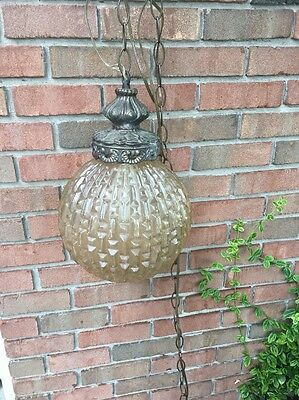 Vintage Chandelier Globe Hanging Light Nice
