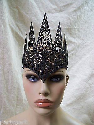 Black Diecut Royal Crown Gothic Ravenna Wicked Evil Queen Renaissance Medieval