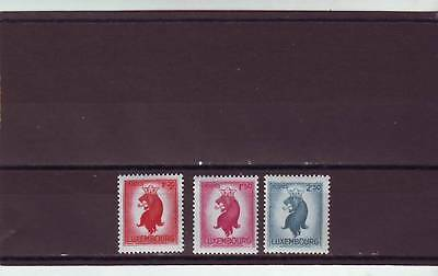 a111- LUXEMBOURG - SG472-474 MNH 1945 LION OF LUXEMBOURG - HIGH VALUES