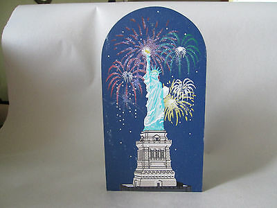 1998 The Cat's Meow National Treasures Statue of Liberty Night Scene New York