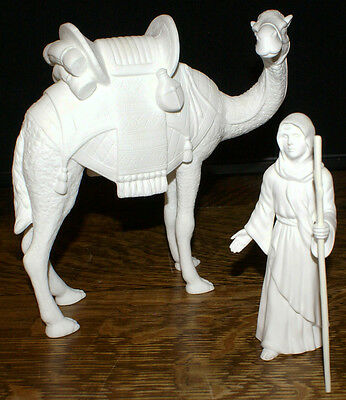 Lenox China White Bone Bisque Nativity Camel & Driver from 1991 Limited Edition